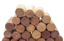 Wine corks on the white. Or background Stock Images
