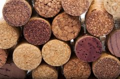 Wine corks on the white. Or background Stock Image