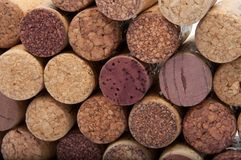 Wine corks on the white. Or background Royalty Free Stock Photo