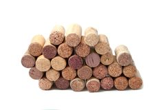 Wine corks on the white. Or background Royalty Free Stock Photography