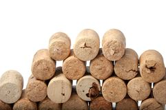 Wine corks on the white. Or background Royalty Free Stock Images