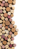 Wine corks on white royalty free stock photography