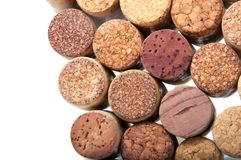 Wine corks on the white. Or background Royalty Free Stock Image