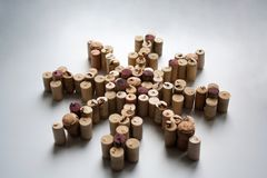 Wine corks wind rose silhouette. On white background Stock Photos