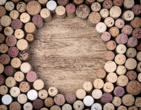 Wine corks  on wooden Royalty Free Stock Photography