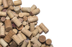 Wine corks on wooden. Background.with copy space Royalty Free Stock Images