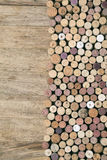 Wine corks on wooden Stock Photography