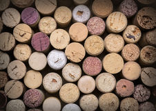Wine corks on wooden Royalty Free Stock Image