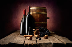 Wine and corkscrew Stock Photography