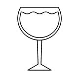 wine cup drink isolated icon Stock Photography