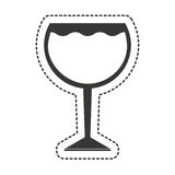 wine cup drink isolated icon Royalty Free Stock Image