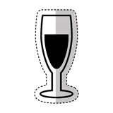 Wine cup silhouette isolated icon Stock Photography
