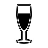 Wine cup silhouette isolated icon Royalty Free Stock Photos