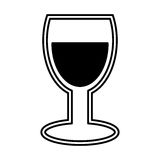 Wine cup silhouette isolated icon Stock Photos