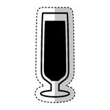 Wine cup silhouette isolated icon Royalty Free Stock Photo
