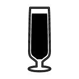 Wine cup silhouette isolated icon Stock Images