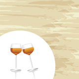 Wine cups Royalty Free Stock Photo