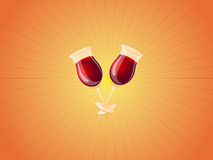 Wine cups Royalty Free Stock Photos