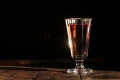 Wine On Dark Stock Image