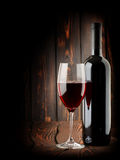 Wine on a dark background Stock Photo
