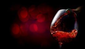 Wine on dark red Royalty Free Stock Image