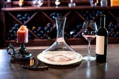 Wine decanter Stock Photography