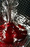 Wine decanter on silver Stock Images