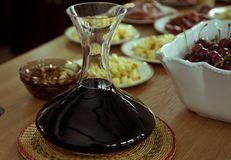 Wine decanter for tasting Stock Photos