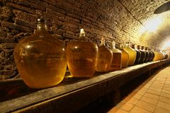 Wine demijohns Royalty Free Stock Photos