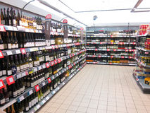 Wine department in a superstore. Stock Images