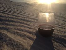 Wine in the Desert Royalty Free Stock Photo