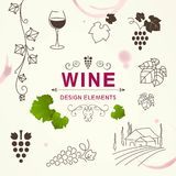 Wine Design Elements Royalty Free Stock Photography