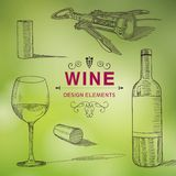Wine Design Elements Stock Photo