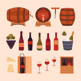 Wine design elements Royalty Free Stock Photos