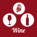 Wine design. Wine graphic design , vector illustration Royalty Free Stock Images