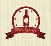 Wine design Royalty Free Stock Photo