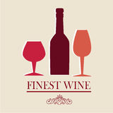 Wine design. Over pink background vector illustration Stock Photography