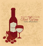 Wine design Stock Photography