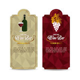 Wine design. Royalty Free Stock Photos