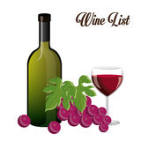Wine design. Stock Images