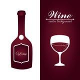 Wine design over white and pruple backgroundvector illustration Stock Image