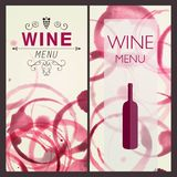 Wine Design Template Stock Photos