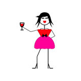 Wine Diva Royalty Free Stock Photos