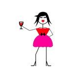 Wine Diva Royalty Free Stock Photos