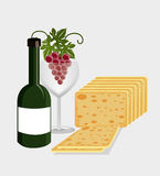 Wine drink graphic design with icons. Vector illustration eps10 Royalty Free Stock Image