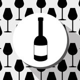 Wine drink graphic design with icons. Vector illustration eps10 Stock Photography