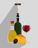 Wine drink graphic design with icons Royalty Free Stock Photography