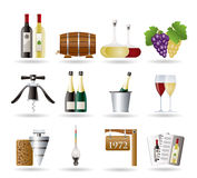 Wine and drink Icons. Vector Icon Set Royalty Free Stock Image