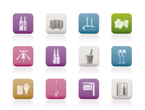 Wine and drink Icons Stock Photos