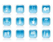 Wine and drink Icons Royalty Free Stock Photos